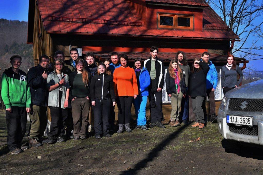 Účastníci beskydského houkání a jeřábkování 2018