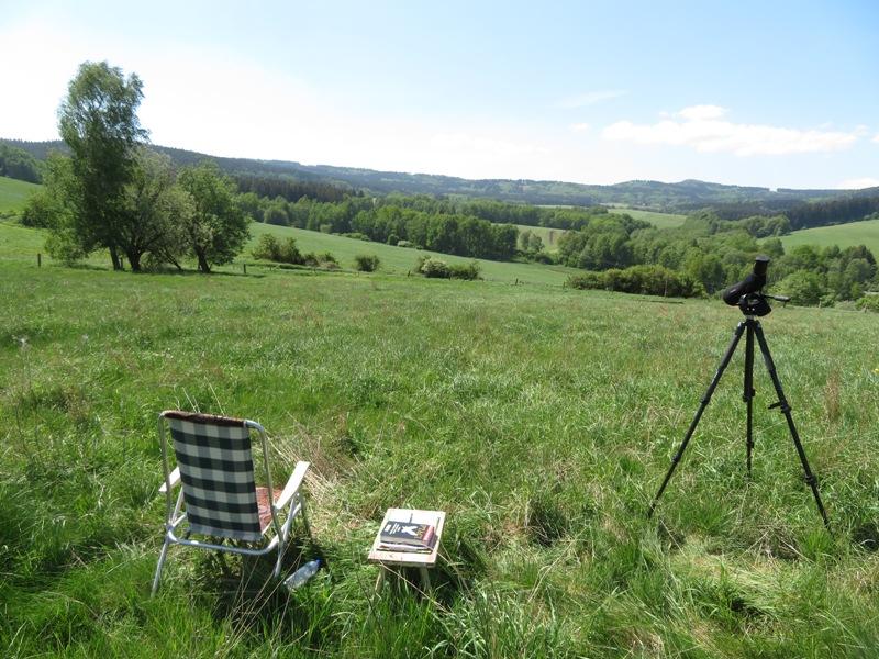mapování ptáků v Českém lese