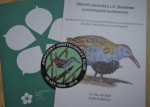 Sborník abstraktů z 6. Jihočeské ornitologické konference
